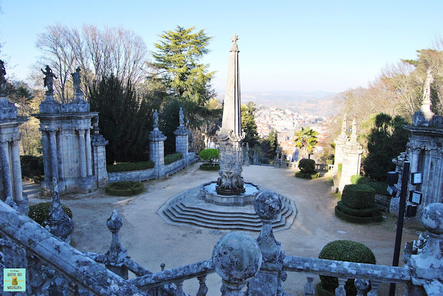Santuario en Lamego, Portugal