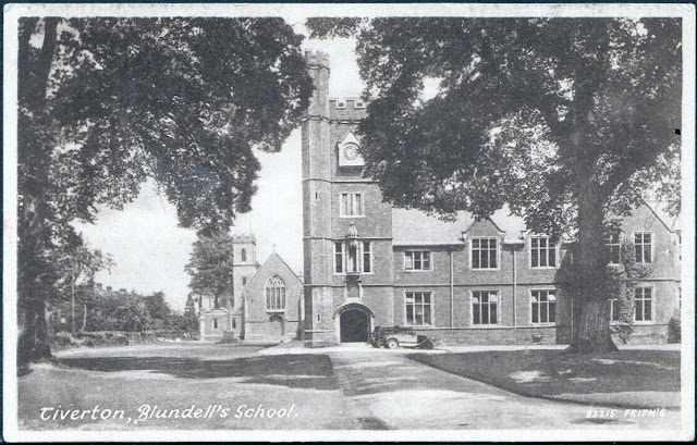 Postcard of Blundell's School c.1930