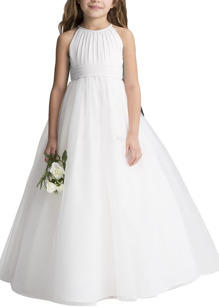 Cute Chiffon Girls Junior Bridesmaid Dresses