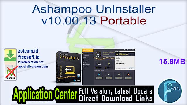 Ashampoo UnInstaller v10.00.13 Portable_ ZcTeam.id