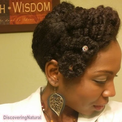 Rosette Updo Wedding Prom Natural Hair