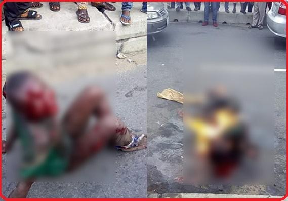 Boy 7 burnt alive for stealing garri in Nigeria