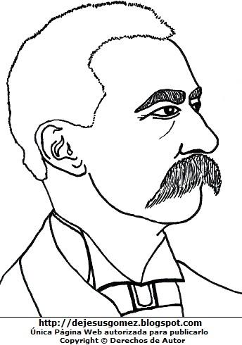 Dibujo de Eduardo López de Romaña de costado para colorear pintar imprimir. Imagen de Eduardo López de Romaña de Jesus Gómez