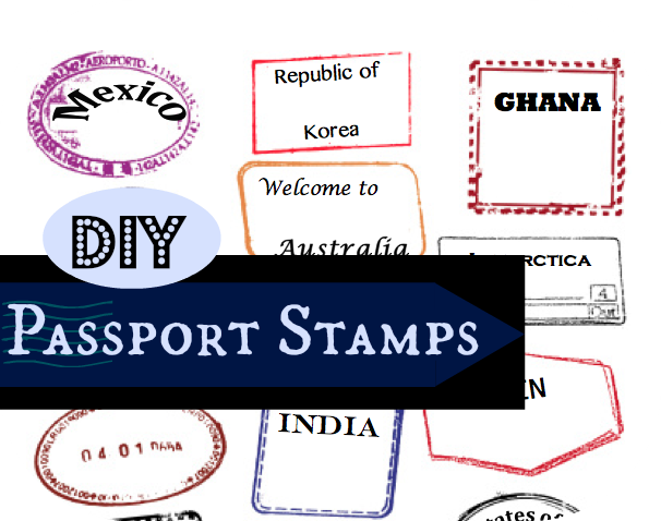 passport stamps template editable
