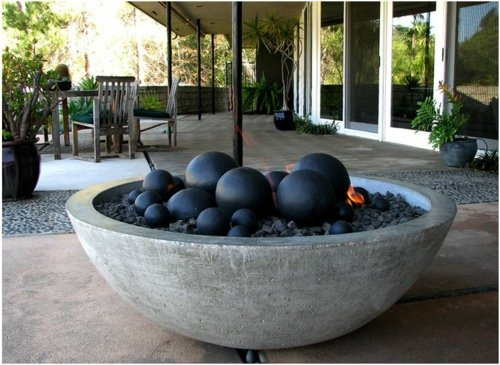 boule ceramique decoration jardin terrasse maison. Black Bedroom Furniture Sets. Home Design Ideas