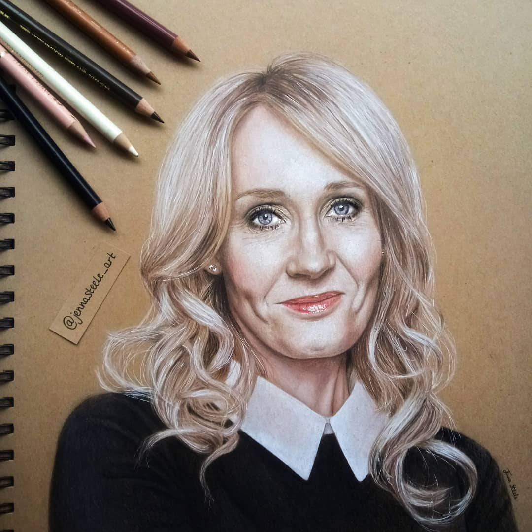 10-J-K-Rowling-Jenna-Steele-Collection-of-Pencil-Drawings-www-designstack-co