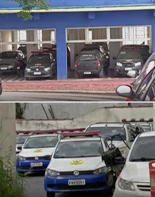 Viaturas da GCM de Ferraz de Vasconcelos e Itaquaquecetuba estão paradas