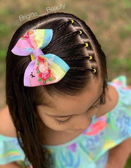Más cautivador peinados niña faciles Imagen de estilo de color de pelo - Peinados Para Cabello Largo Para Niñas Con Ligas - ideas ...