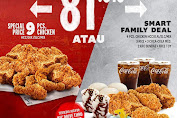 Promo KFC Harga Spesial 9 Pcs Ayam Mulai Rp.81.818 Periode 28 - 29 Maret 2020