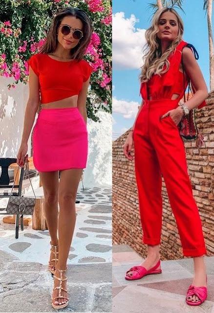 Tendência vermelho e rosa, Thais Cadorin, Thássia Naves