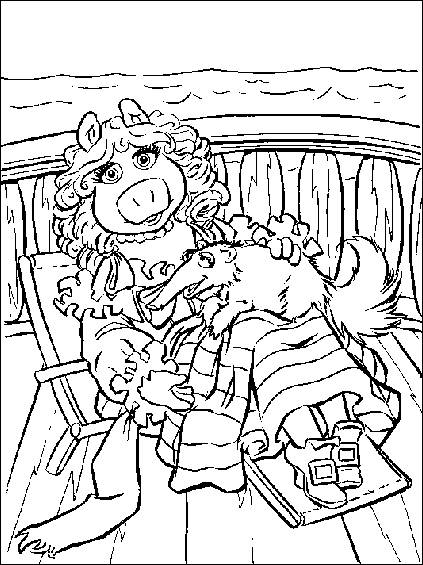 muppet movie coloring pages - photo#10
