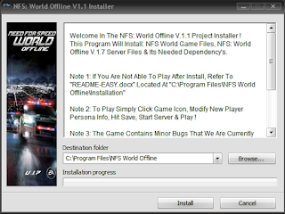 Toturial Cara Install Need For Speed World Offline di PC Yang Work