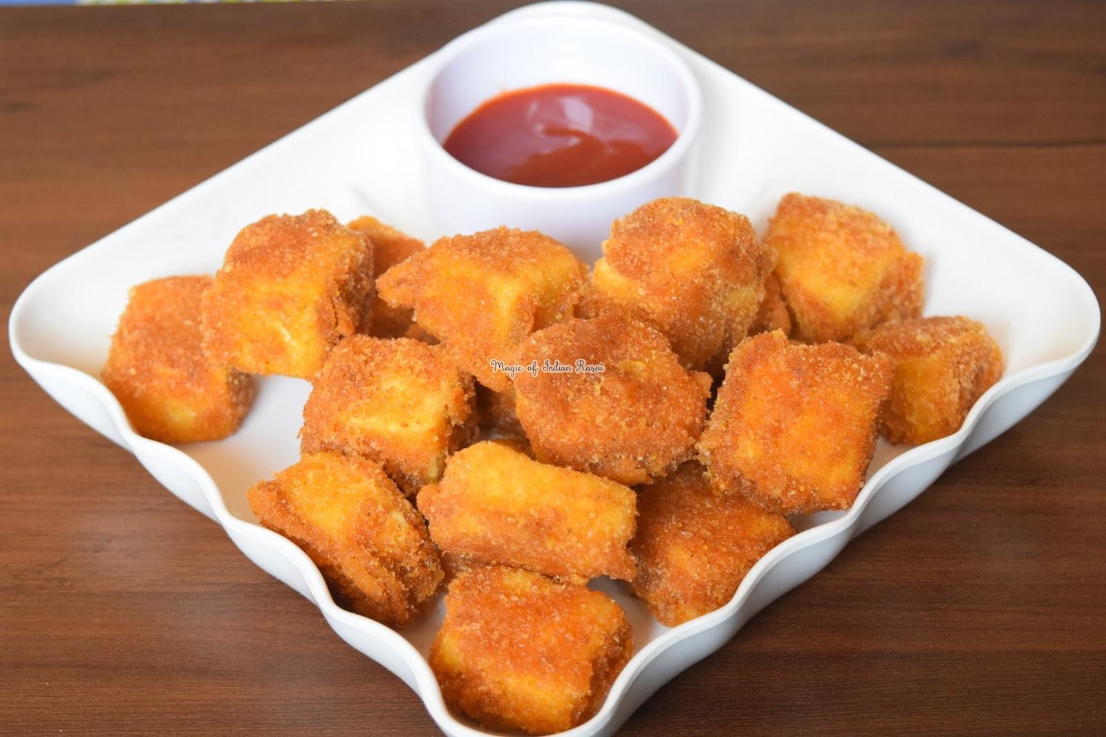 Paneer Nuggets - Quick & Easy Party Starter Recipe - पनीर नगेट्स - झटपट और आसानी से बनने वाले पार्टी स्टार्टर रेसिपी - Priya R - Magic of Indian Rasoi