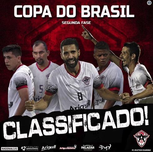 Atlético-CE vence o Joinville e avança na Copa do Brasil