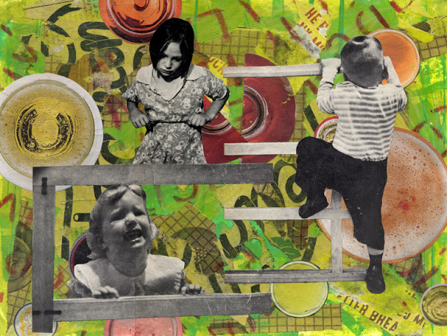 Kids at play collage