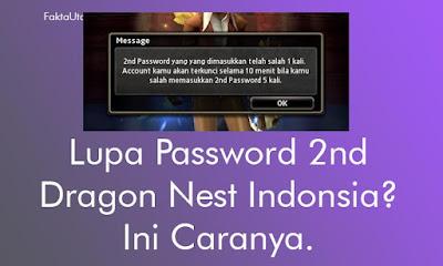 Hadirnya fitur keaman untuk melindungi supaya kamin Anda tidak terbajak atau diambil alih ol Cara Reset Password 2nd Dragon Nest Indonesia (Gemscool) - Beserta Gambar