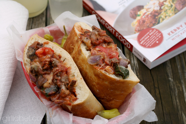 Steak Bomb Sandwich + an Adventures in Comfort Food cookbook tour and giveaway