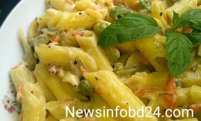 White sauce pasta recipe by abu sayem 2021