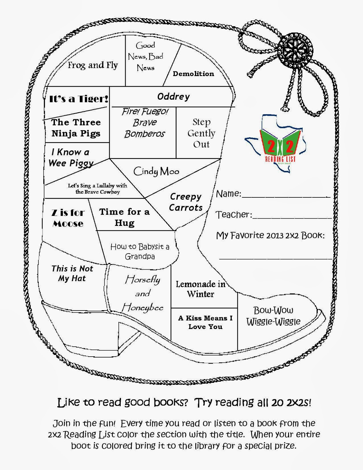 Mrs. Mattei's Book Bits Blog: Want to Become a 2x2 or