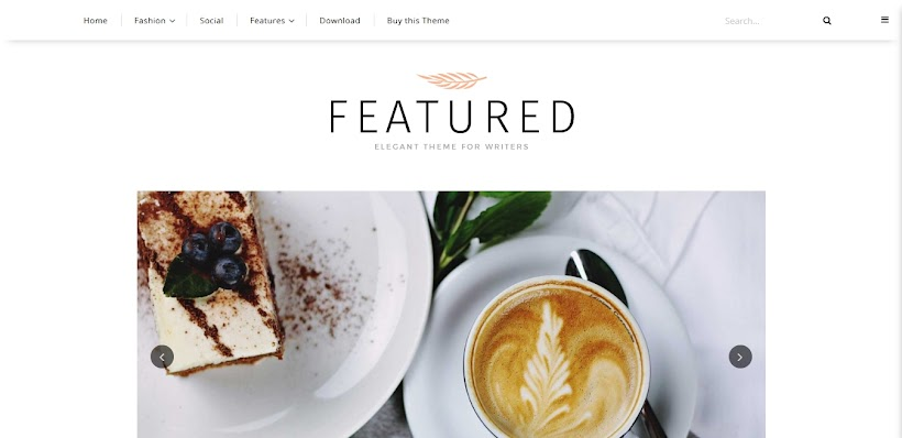 Featured Free Blogger Template