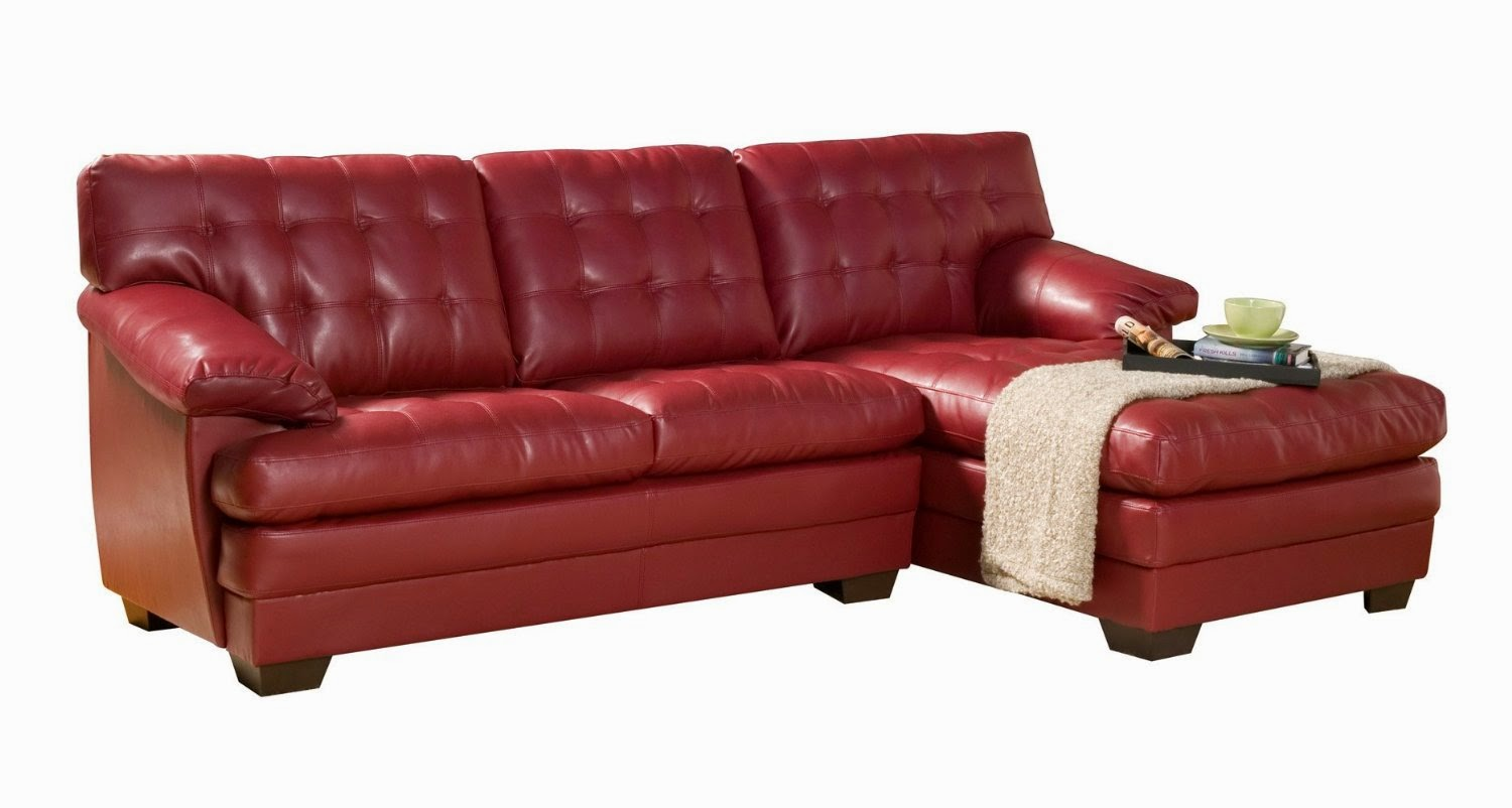 red couch red leather sectional couch home gallery. Black Bedroom Furniture Sets. Home Design Ideas