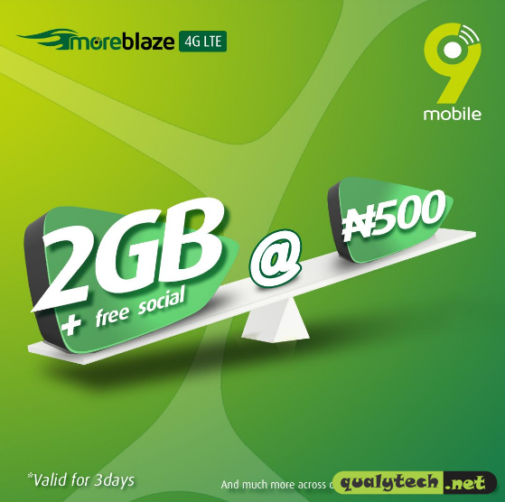 9mobile revamped data plans, get 1GB for N300, 2GB for N500, 7GB for N1500