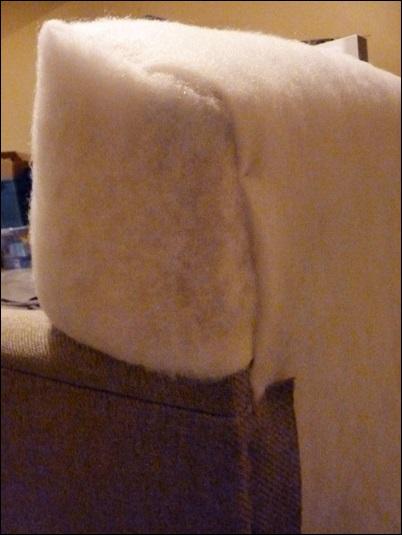 espuma do escoro sofa