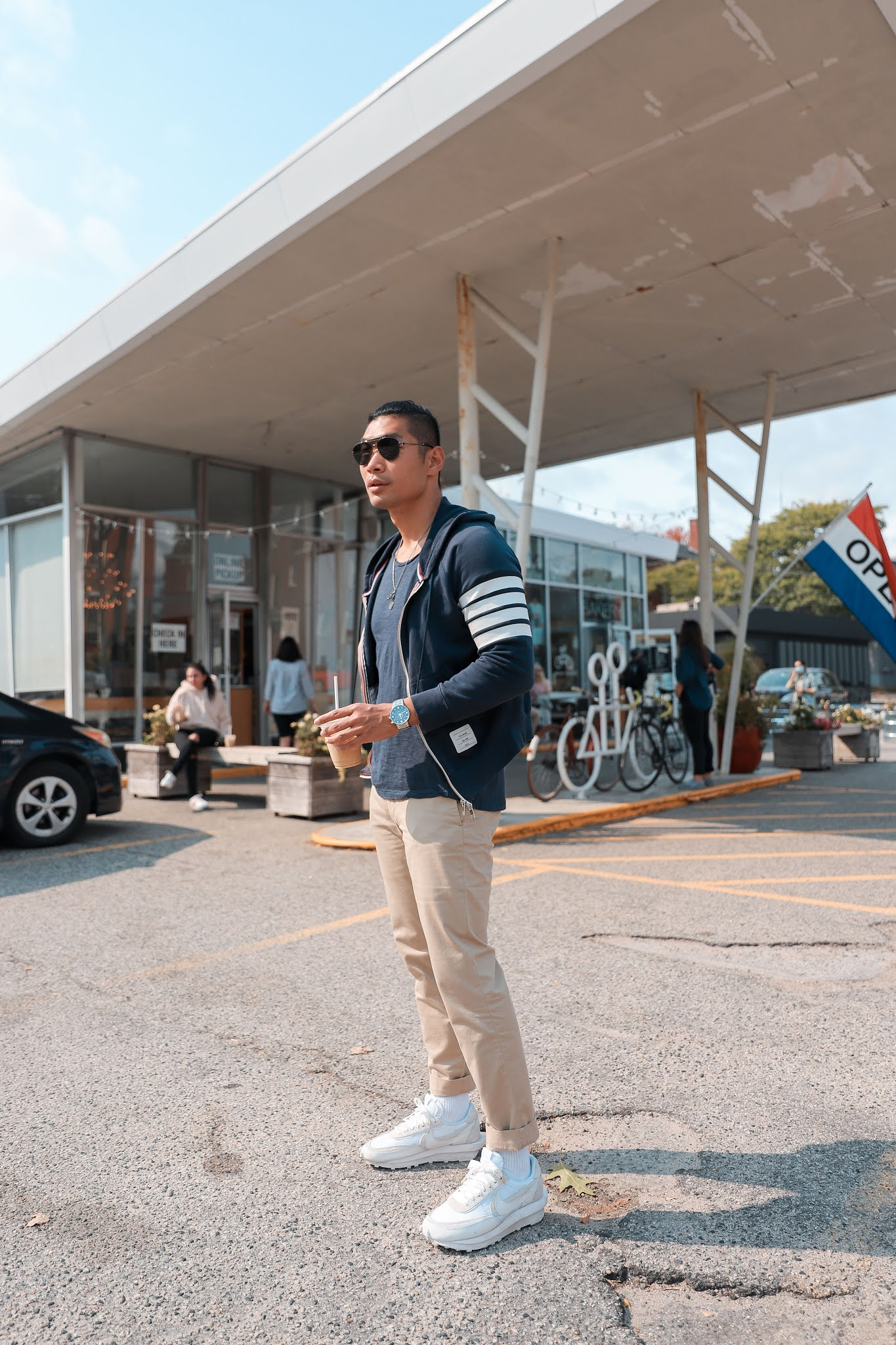 Fall Outfit Inspiration for Men 2020 | Leo Chan wearing Thom Browne Zip Up Hoodie