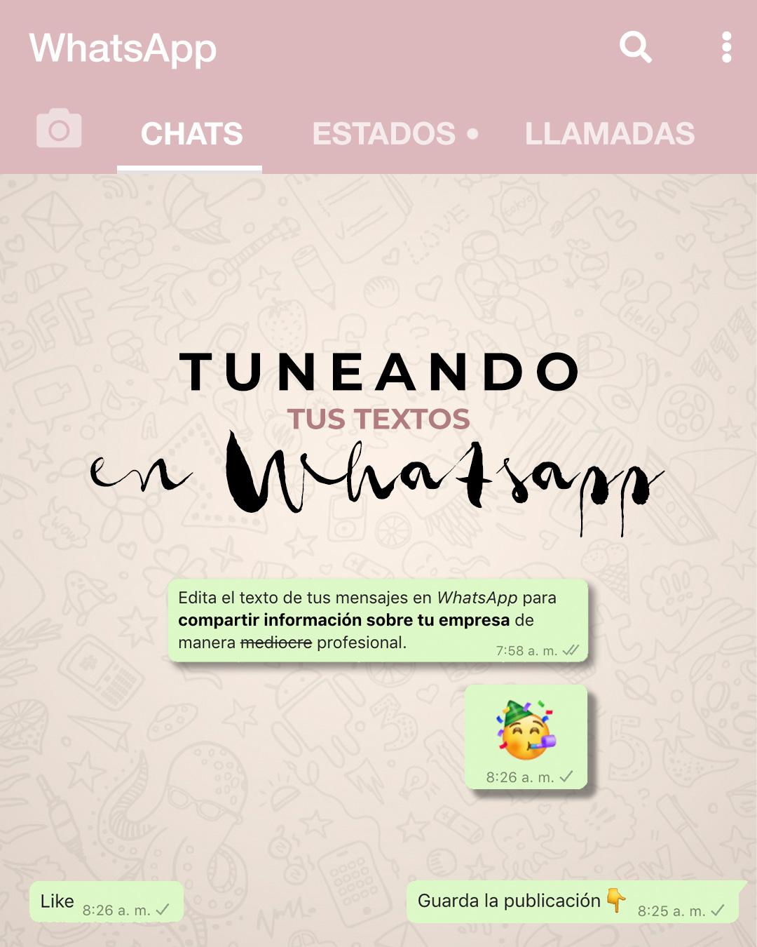 Cómo aplicar estilos a los textos en Whatsapp