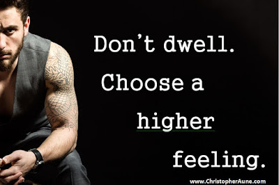 Brooding guy: Don't dwell. Choose a higher feeling.