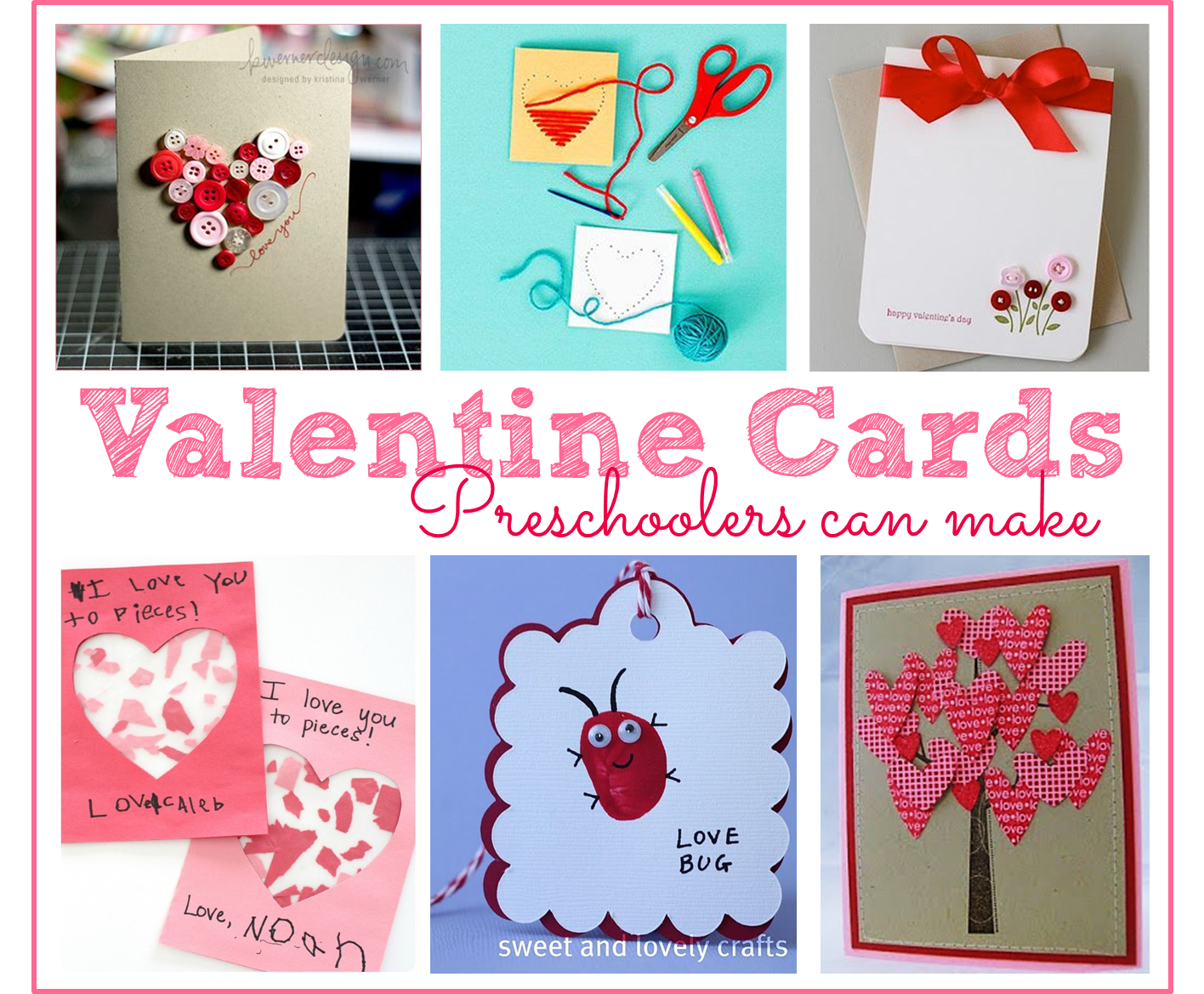 Preschool Ponderings Valentine S Day Cards That