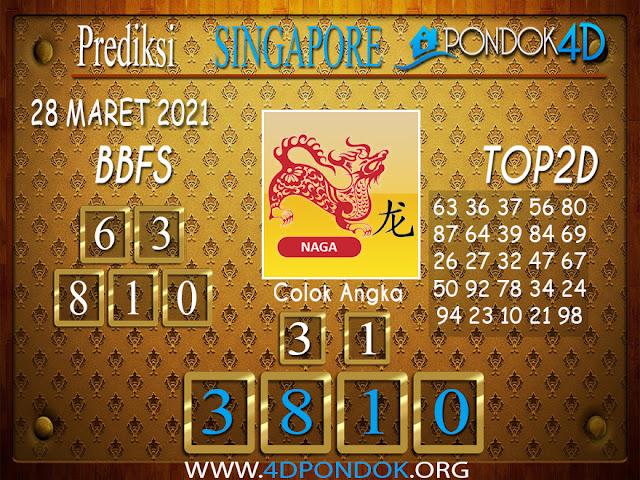 Prediksi Togel SINGAPORE PONDOK4D 28 MARET 2021