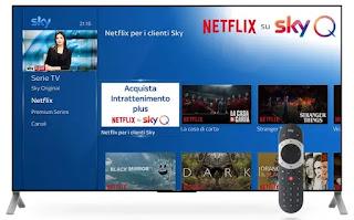 vedi app netflix su tv con decoder sky q