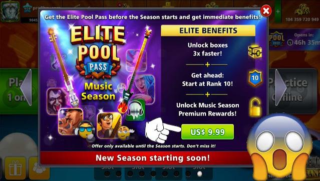 8 ball pool Music Season New Pool Pass