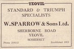 W Sparrow and Sons Ltd Autocar advert from October 1957