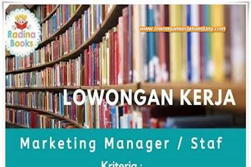 Lowongan Kerja Bandung Staff Radina Books