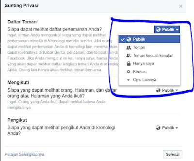Cara Menyembunyikan Teman di Profil Facebook