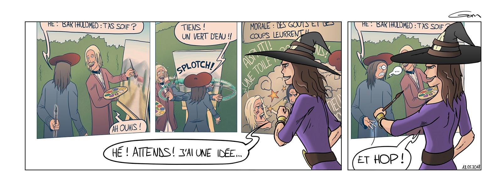 Nain Broglio idée magicienne