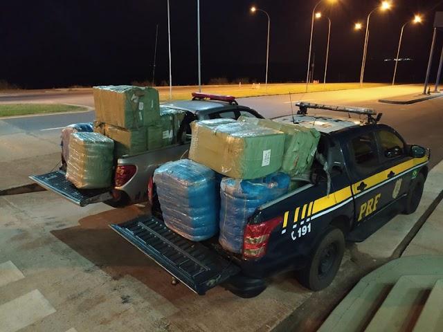 PRF e Receita Federal apreendem carga de mercadorias estrangeiras em Eldorado (MS)