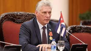 Cuban President Miguel Diaz-Canel