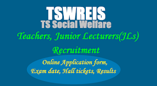 TSWRIES Part Time Teachers Lecturers Recruitment Notification 2017