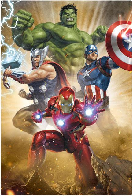 MARVEL Avengers 3D Lenticular Card