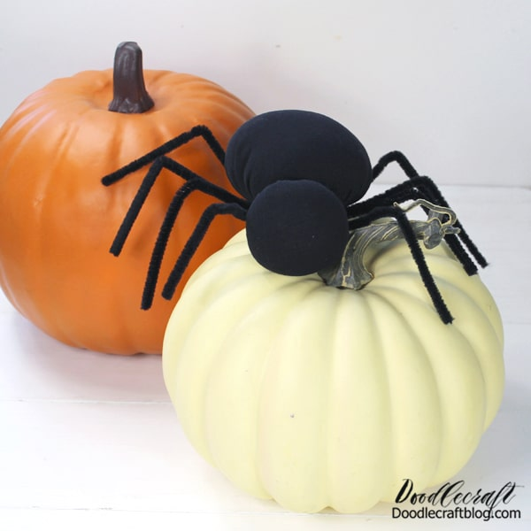 That's it! Now you have a darling little stuffed spider for Halloween decorations. Make a bunch for an infestation! Cover the mantle, porch or entryway!