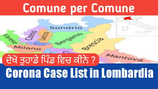 Pure Lombardia de Comuni vich kine Case   update pind by pind