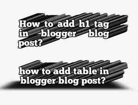 Blog post par heading tag kaise lagaye. Blog post par table kaise add kare.