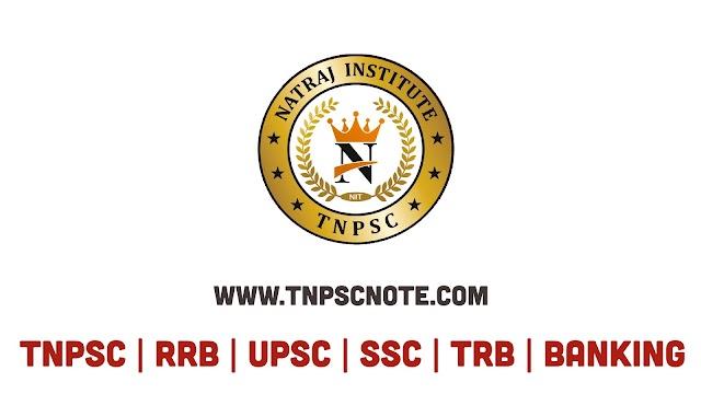 Natraj Institute of TNPSC வெளியிட்டுள்ள TNPSC தேர்வுக்காக Physical Geography பாடத்திலிருந்து எடுக்கப்பட்ட Study Material