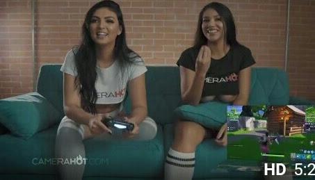 PornHub • Duas amigas gostosa jogando Fortnite pelada