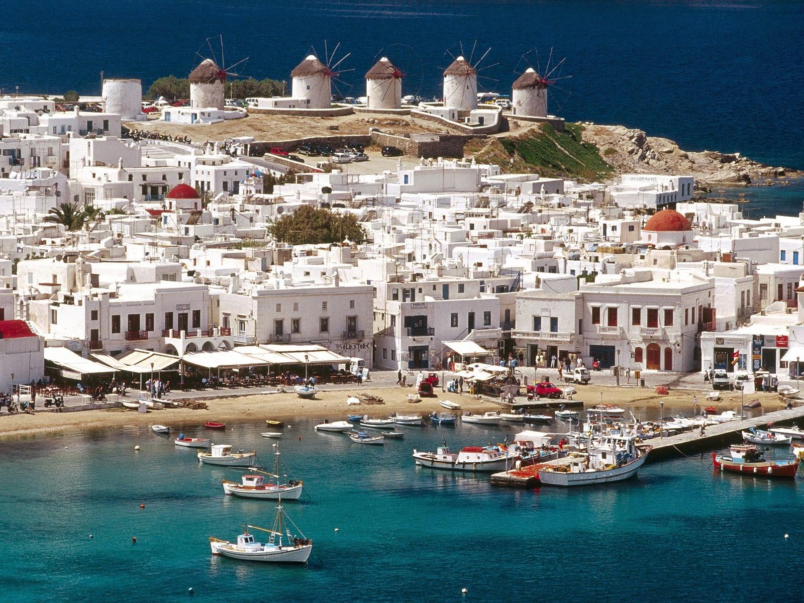 mykonos town Grecia