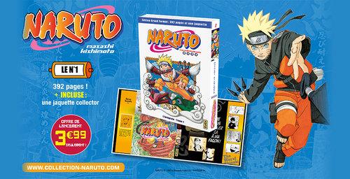 Nouvelle collection Naruto en grand format chez Hachette
