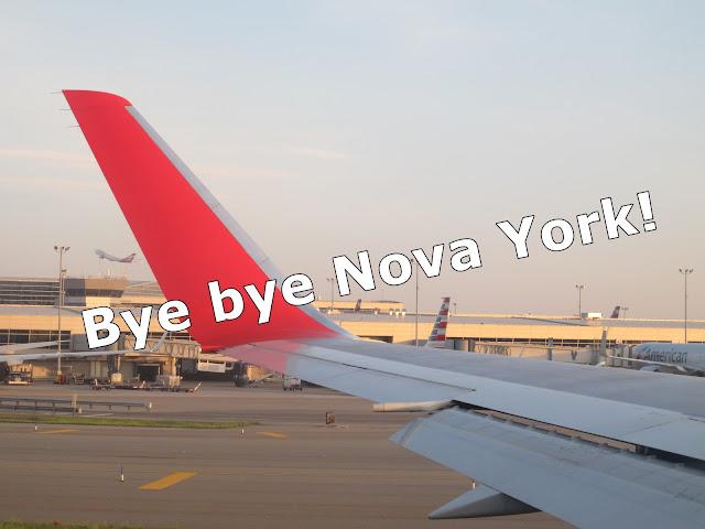 Bye bye Nova York, vídeo de despedida, voo LATAM!